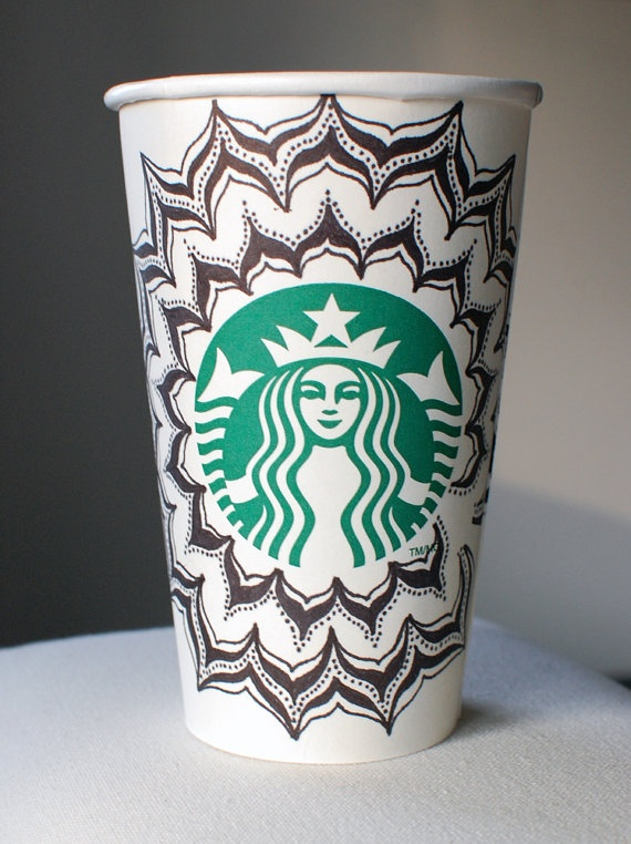 Doodle Starbucks Cup -- My love for starbucks is close to obsession! *_^
