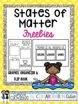 These States of Matter Freebies are great to use during your study of the states of matter! There are 2 items included in this states of matter download. One is a graphic organizer and one is a flip book for interactive notebooks. The states of matter resources can be used in a variety of ways.