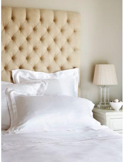 www.gingerlily.co.uk Eva White Silk Bed Linen