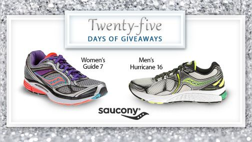 Day 21 is all about Saucony!  Each pair of Saucony running shoes is tested for quality and durability for the best experience on the road, track or trail. Where would you wear your new shoes? Enter to win here. #25DaysofGiveaways: Running Shoes, Pairings, 25Daysofgiveaway, Footsmart Save, Contest, Brooks Shoes, Enter, Win, New Shoes
