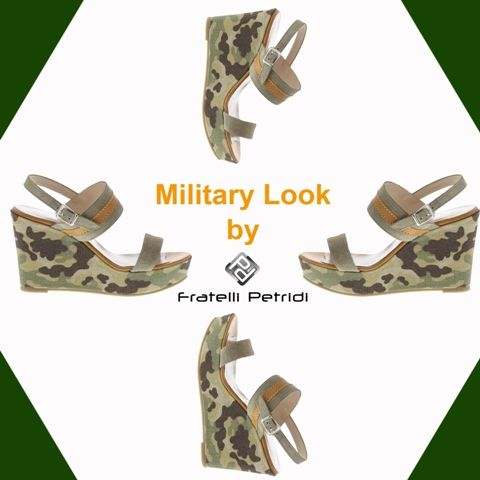 #fratellipetridi #military #look #wedges #style #fashion #icon #trend #summer #look
