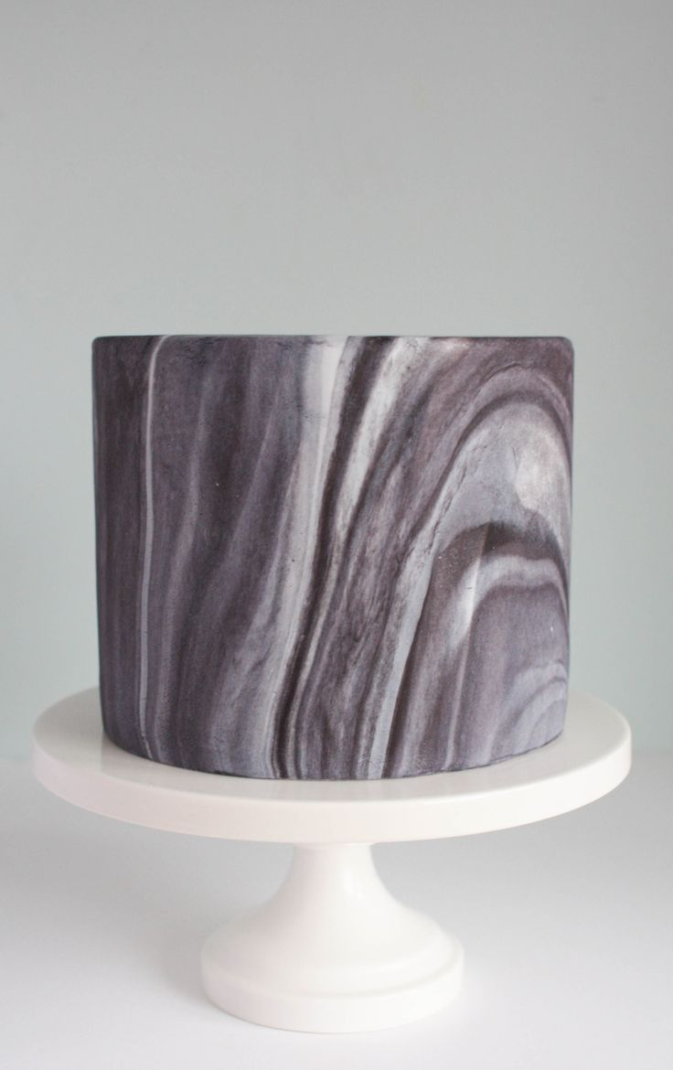 Cake Covered in Marbled Fondant | Erin Gardner | Craftsy