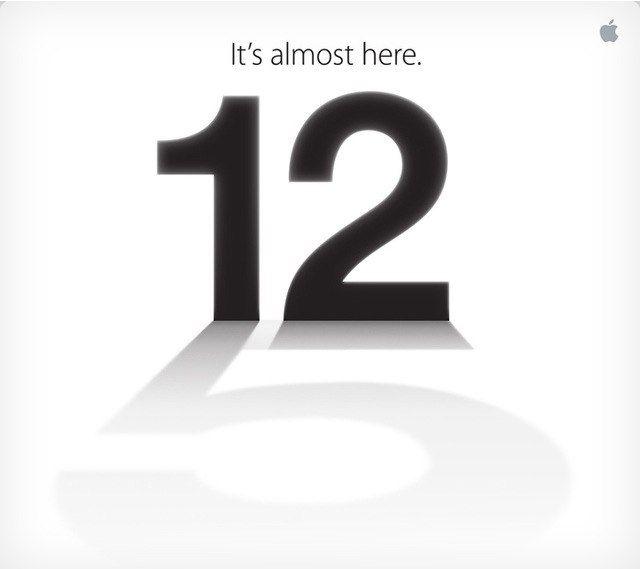 Anuncio del evento de apple para el lanzamiento del nuevo iPhone, a que es curiosa la foto en la que la fecha, el doce, proyecta una sombra con forma de 5?