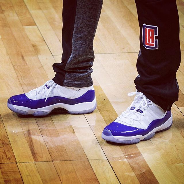 Chris Paul's Air Jordan 11 with royal blue patent leather needs to release! What do you think of his latest PE? Get another look on SneakerNews.com. #sneakermates #sneakerwatch #asics #kicksoftheday #sneakerhead