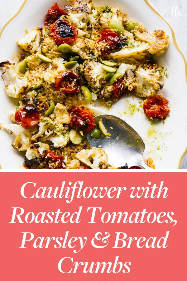 Cauliflower With Roasted Tomatoes Parsley And Bread Crumbs