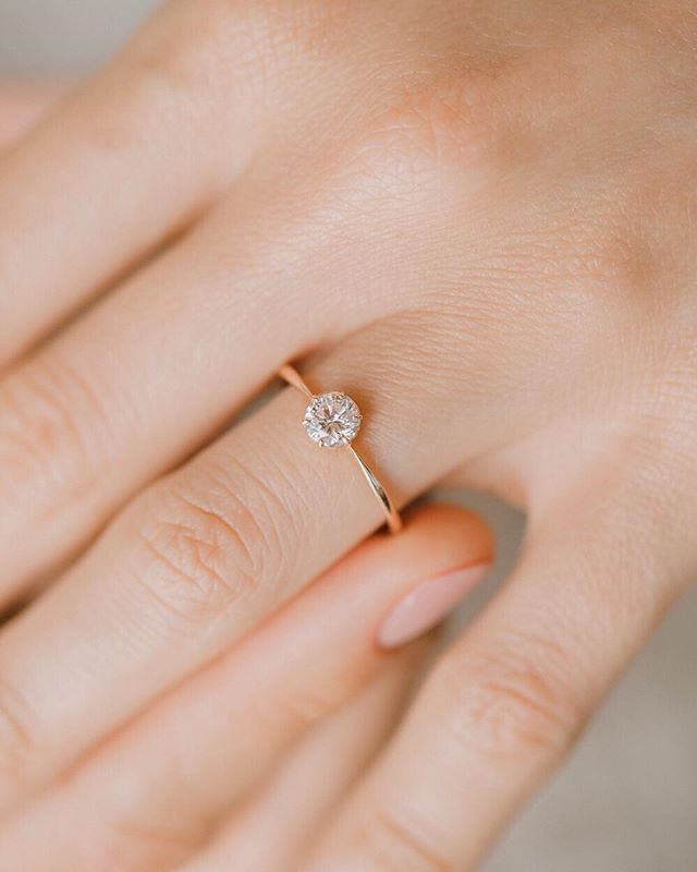 Our Most Simple And Delicate Engagement Ring Wishing Well This Is Our 5mm Diamond Ver Delicate Engagement Ring Wedding Rings Simple Wedding Rings Engagement
