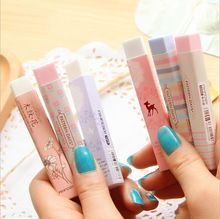 1PC stationery supplies kawaii cartoon Pencil erasers for office school kids prize writing drawing wholesale(China (Mainland))