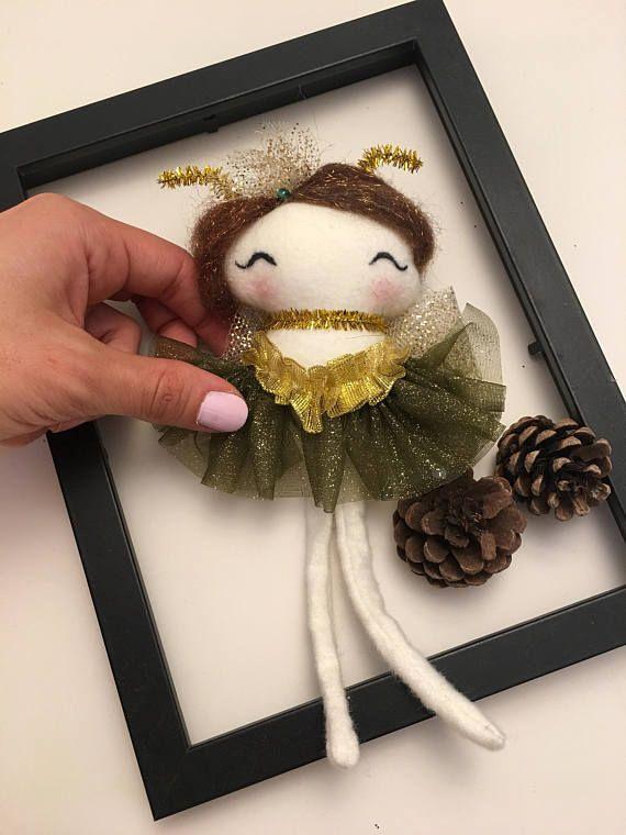 Fairy doll / Christmas tree decor  / tooth fairy / handmade