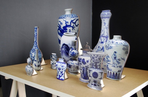 stephanie syjuco - blue and white porcelain