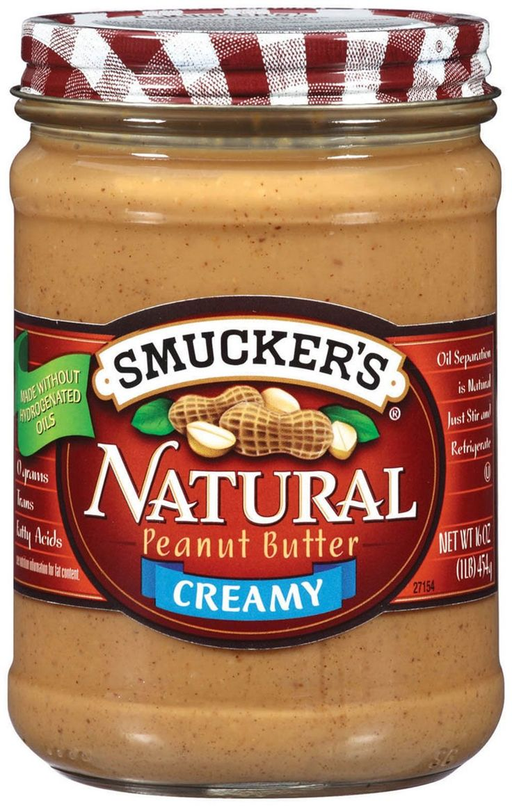 From Skippy and Jif to Earth Balance and Teddie's, we rate the best and worst of all time. AND THE #1 BEST PEANUT BUTTER IS SMUCKER'S NATURAL PEANUT BUTTER CREAMY.  2 Tbsp serving: 200 calories, 16 g fat (2.5 g saturated), 90 mg sodium, 6 g carbs, 2 g fiber, 1 g sugar, 8 g protein. Ingredients: Peanuts, contains 1% of less of salt. Smucker's can be found in your local supermarket, so it ranks #1 on our list.