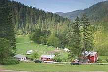 Rogue River (Oregon) ~ Rogue River Ranch at Marial, to which mail was delivered by boat and mule.