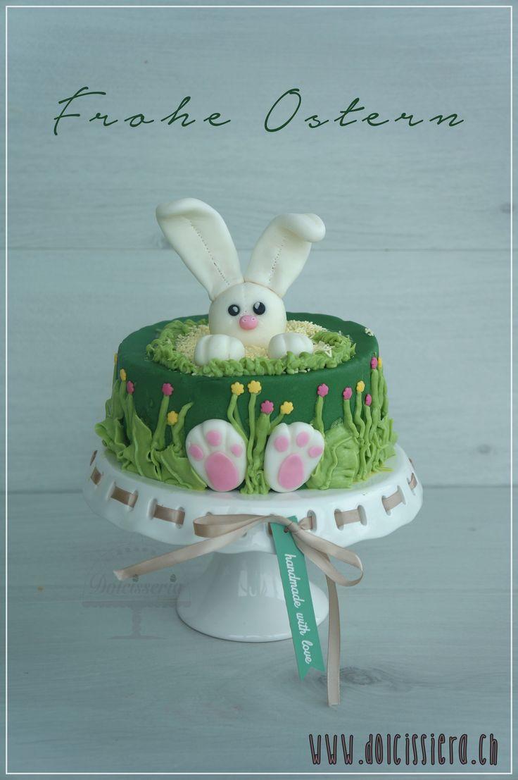 #happyeaster #froheostern #hase #torte #kuchen #fondant #schokolade #zwetschgen