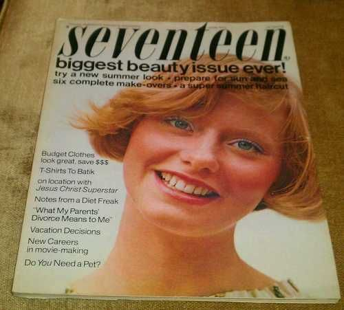 Vintage June 1973 Seventeen Magazine Biggest Beauty Issue Ever