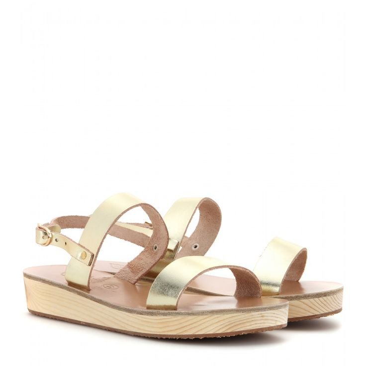 Ancient Greek Sandals - Clio Platform leather sandals - The understated simplicity of Ancient Greek Sandals' 'Clio' style makes them a sound investment. Whether you're planning a sunny getaway or stockpiling summer staples, the supple gold leather and thick straps will stand you in good stead.
