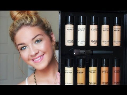 How to achieve flawless glowing skin with @bareMinerals Bare Skin Pure Brightening Serum Foundation! #bareminerals