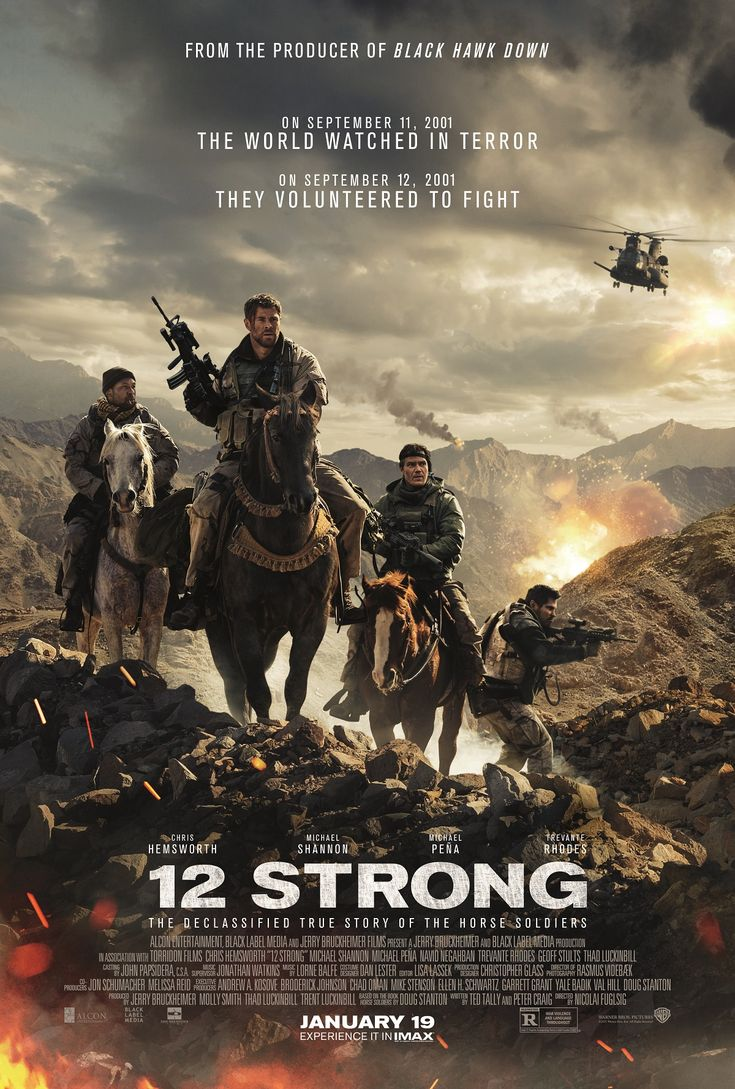 """Nicolai Fuglsig's war drama, """"12 Strong,"""" starring Chris Hemworth, Michael Shannon, Michael Pena, Navid Negahban, Trevante Rhodes, Rob Riggle, and William Fichtner is now playing in theaters. I didn't realize it until I sat down to write this review, but I really, really hated this movie. #12StrongMovie #moviereview #ChrisHemsworth #MichaelShannon #MichaelPena #NavidNegahban #TrevanteRhodes #RobRiggle #WilliamFichtner #NicolaiFuglsig #war #drama #movies #WarnerBrosPictures"""