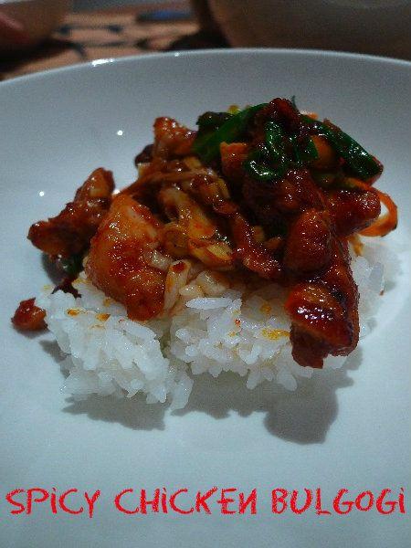 Spicy Chicken Bulgogi...I love Korean food :)