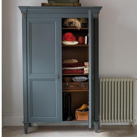 Painted wardrobe-love this colour!