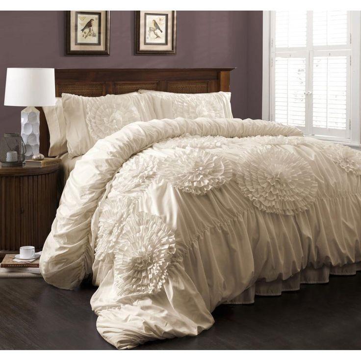 Lush Decor Serena 3-Piece Queen Size Comforter Set in