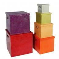 Retro storage trunk chest boxes in funky furniture style