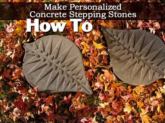 How To Make Personalized Concrete Stepping Stones –
