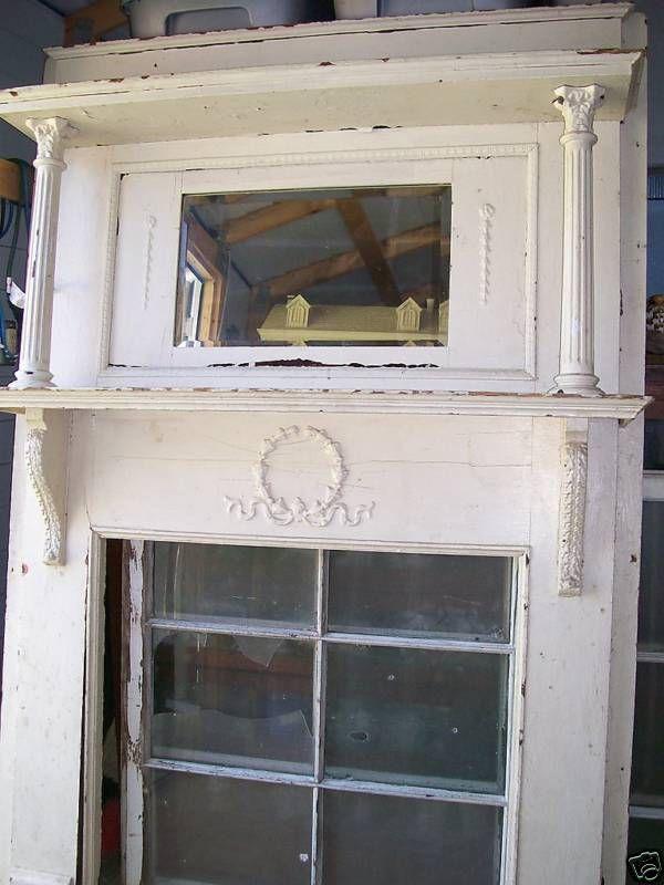 Ornate Wood Victorian Fireplace Mantle Mantel Columns