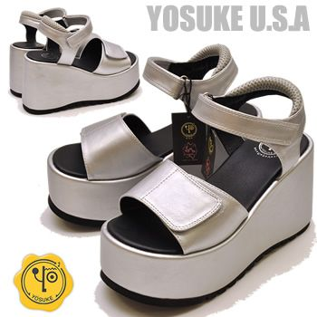 a2c3c5c6913 Thickness bottom sports Sandals silver silver YOSUKE U.S.A he will book  award →