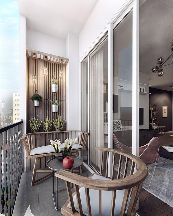 Ein weiteres komfortables Balkon-Design. Ziemlich gute Nutzung des begrenzten Platzes. – Sapir Sivan – Dekoration
