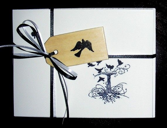 Set of 10 Stunning Detail Silhouette Birds in by GailearaiGetchell, $12.50