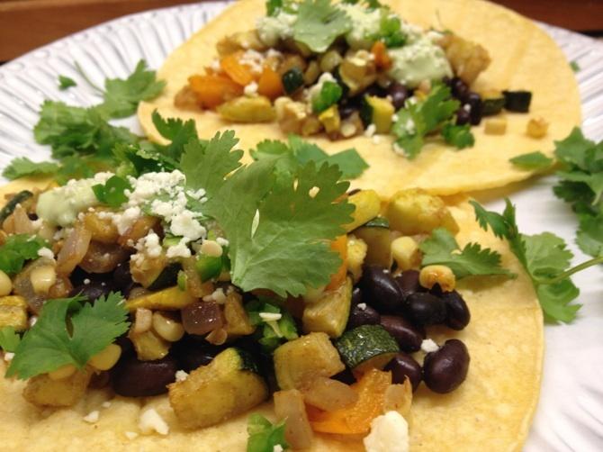 veggie tacos   Divine Dinners   Pinterest