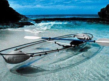 beautiful transparent plastic boat