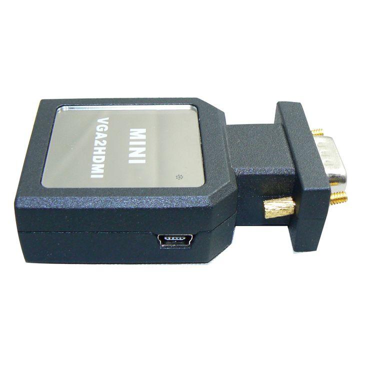 VGA Для HDMI Adapter20pcs Кабель с Аудио 1080 P vga для hdmi кабель кабо vga для hdmi конвертер адаптер vga для hdmi Мужской-Женский
