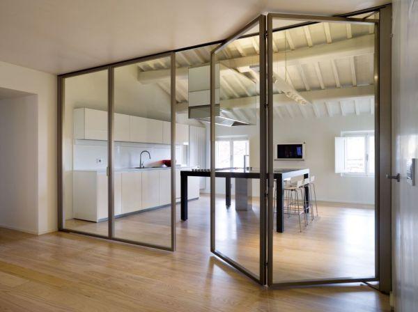 8 manières d'isoler sa cuisine derrière une vitre… | Moltodeco, le blog déco et design d'Emmanuelle Paris