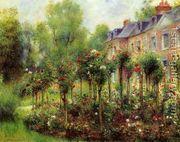 The Rose Garden At Wargemont  by Pierre Auguste Renoir