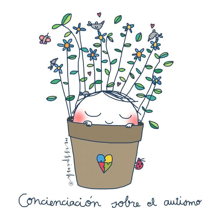 2 de abril Día mundial de la concienciación del autismo. By Misspink. www.misspink.es