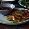 Smoked Fish Fritters with Beet Vinaigrette: Yum! I can't wait to try this beet vinaigrette