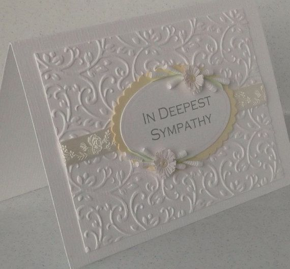 Quilled sympathy card handmade paper by PaperDaisyCardDesign
