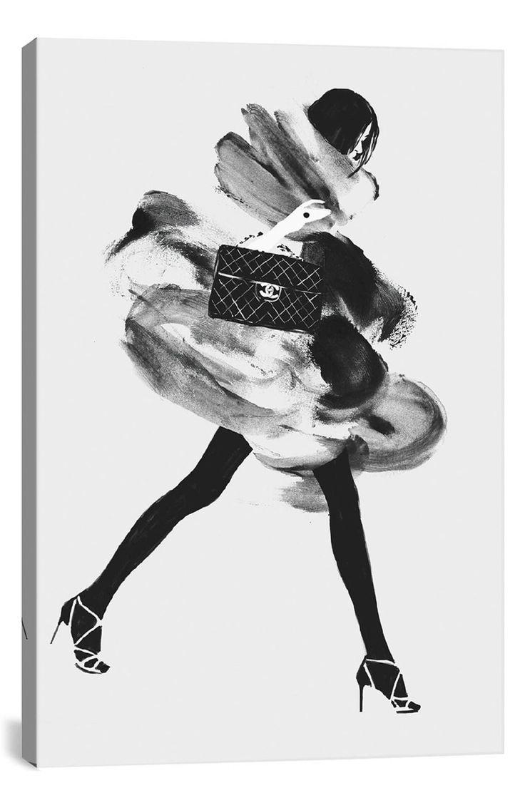 Main Image - iCanvas 'Running Late I' Giclée Print Canvas Art