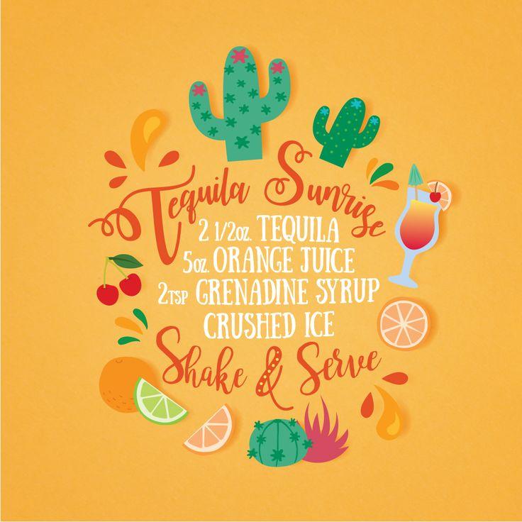 Receta tropical para el fin de semana. #ilustración #tequila #receta #tropical