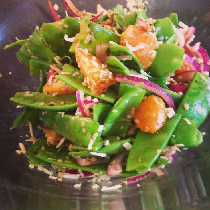Citrus Snow Pea Salad