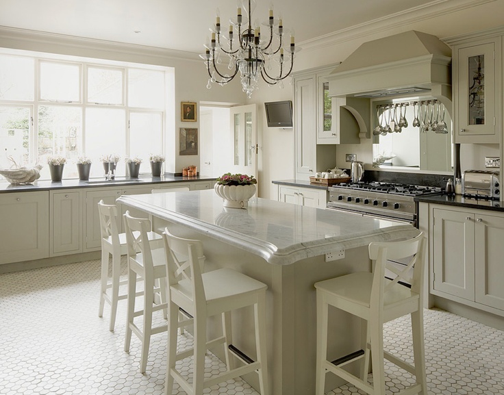 White white white and honeycomb pattern on floor chic provence