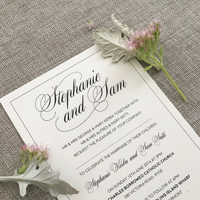#typography #detail #closeup #elegantdesign #invitation #wedding