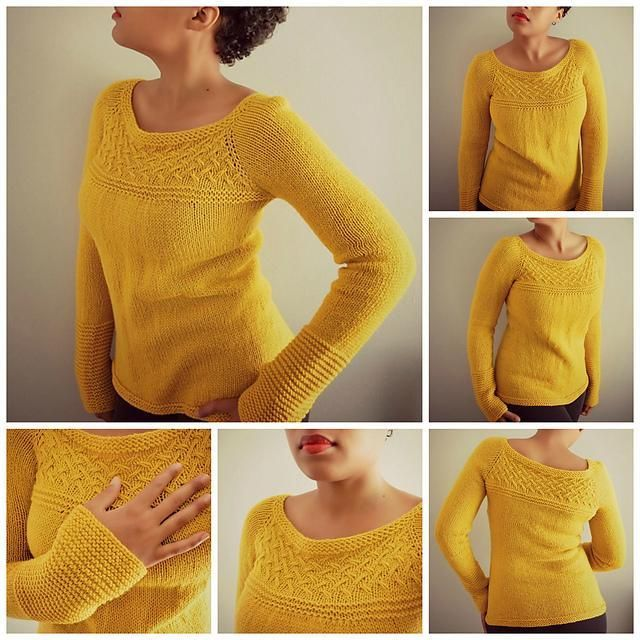Taylor Top-Down Sweater Knitting Pattern
