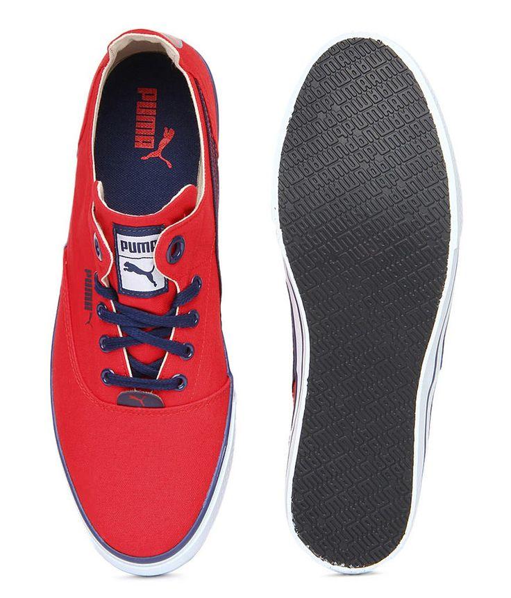 Puma Men Red Stylish Canvas Shoes
