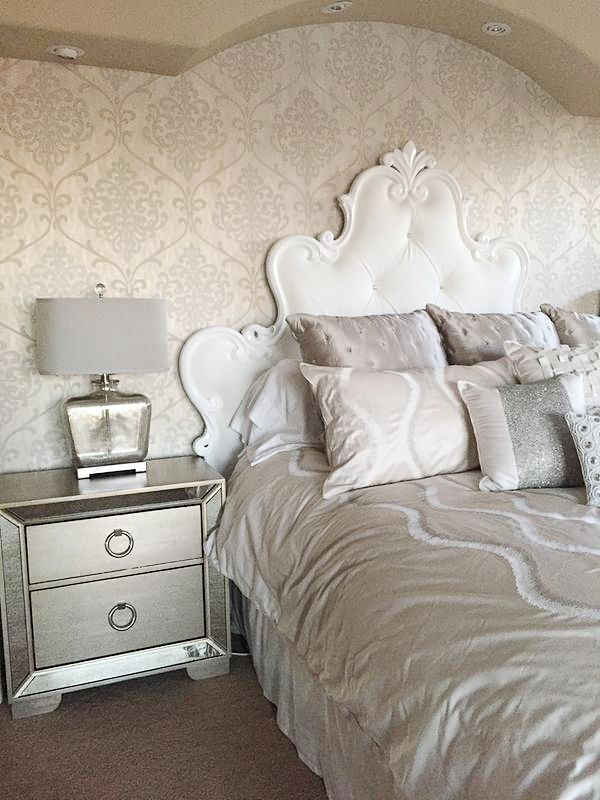 Check Out This Gorgeous Feature Wall In A Customeru0027s Bedroom Using Kenneth  Jamesu0027 Ambrosia Champagne