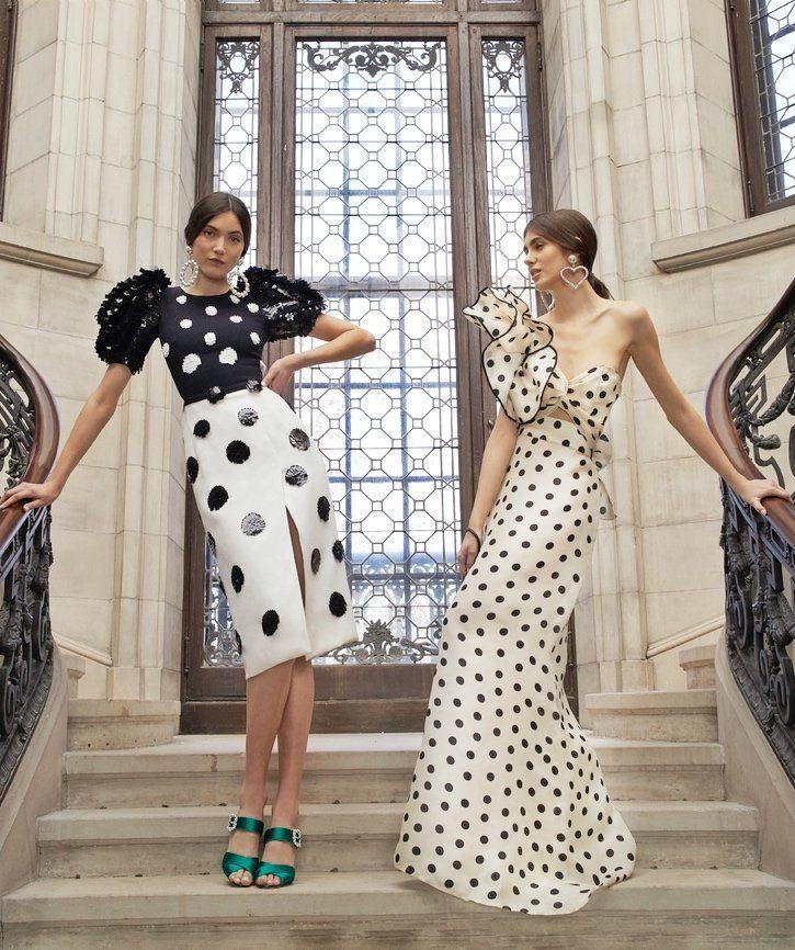 Pleated Dot Midi Dress by Carolina Herrera and Valley Of The Kings Silk  Organza Dress by Johanna Ortiz Fall Winter 2018 3ee16f69b