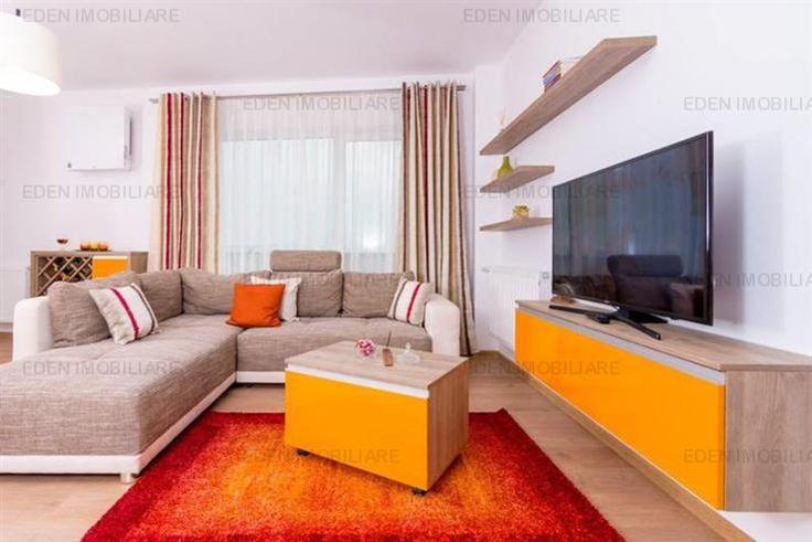 Inchiriere apartament 3 camere, Buna Ziua, Cluj-Napoca. Imobilul este decomandat cu o suprafata de 64 mp, un living si bucatarie open space, 2 dormitoare, 2 grupuri sanitare