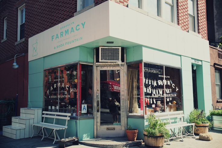 Brooklyn Farmacy & Soda Fountain: Soda Fountain, Brooklyn Pharmacy, Restaurants Shops, Escaparates Shop Design, Storefront, Store Front