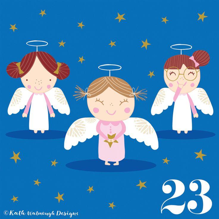 Day 23 - Someone's got the giggles. #makeitindesign #angels #advent #adventcalendar #adventcalendar2017 #adventcalendarart #adventchallenge2017 #illustration #christmascountdown #christmascalendar #christmas #freelance #freelancedesigner #christmas2017 #kathwatmoughdesigns www.instagram.com/kathwatmough