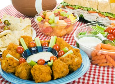Kids Party Food - Chicken Nuggets, celery and dip.